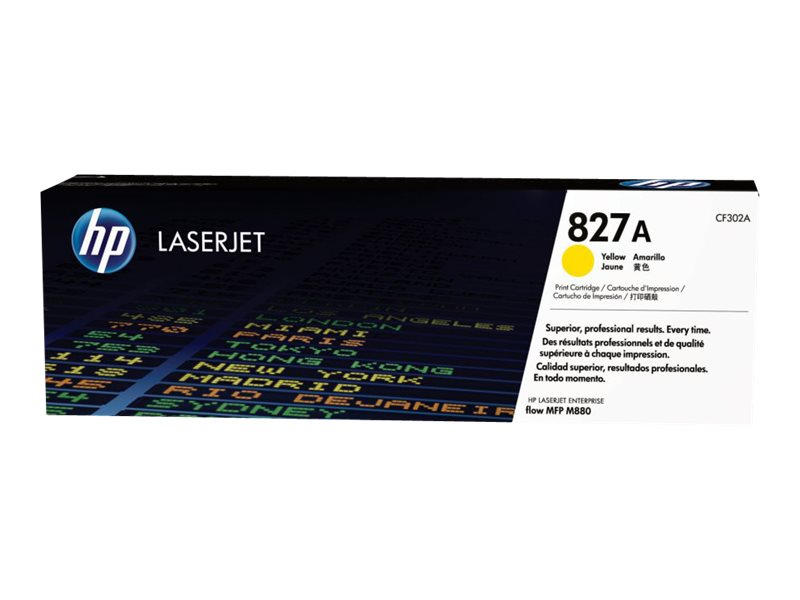 HP 827A (CF302A) Yellow Original LaserJet Toner Cartridge, CF302A, 16431526, Toner and Imaging Components