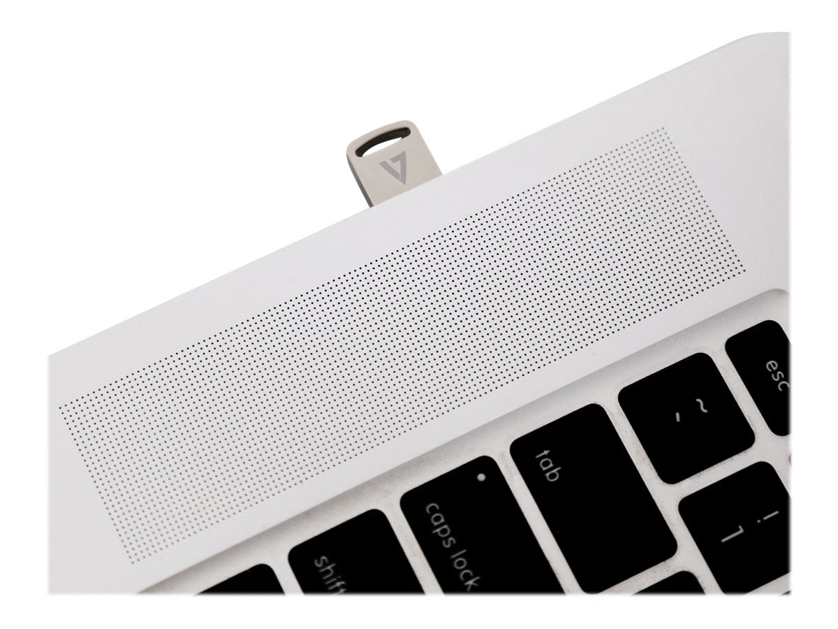 V7 128GB Nano USB 3.1 Flash Drive, Silver