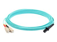 ACP-EP SC to MT-RJ OM3 Multimode Fiber Duplex Patch Cable, Aqua, 7m, ADD-SC-MTRJ-7M5OM3
