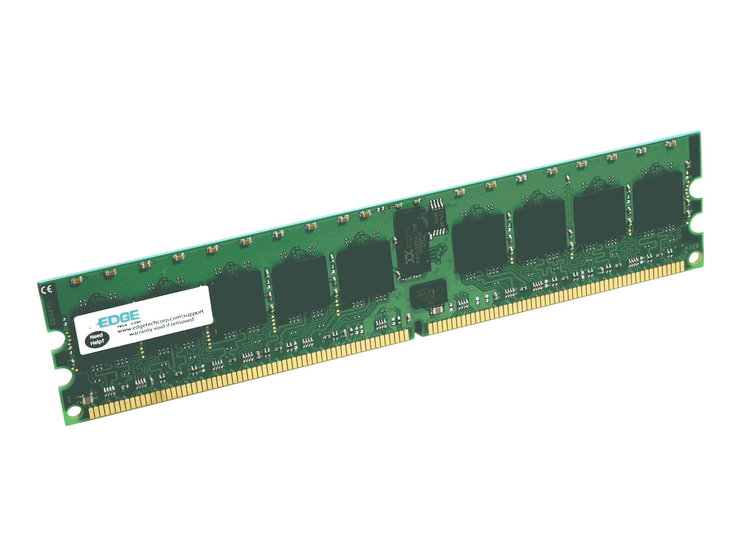 Edge 4GB PC3-10600 240-pin DDR3 SDRAM UDIMM, PE222925, 10041092, Memory