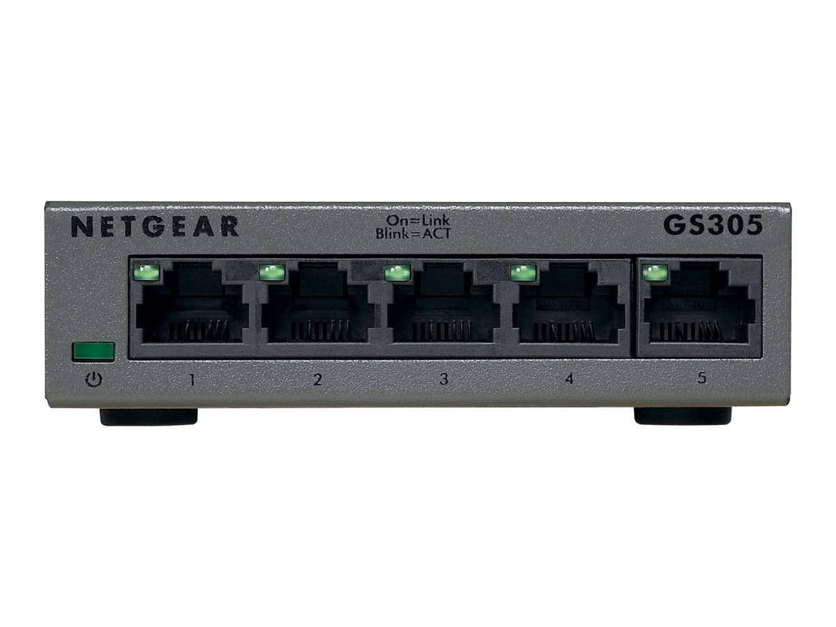 Netgear 5-Port GbE Unmngd Switch, GS305-100PAS