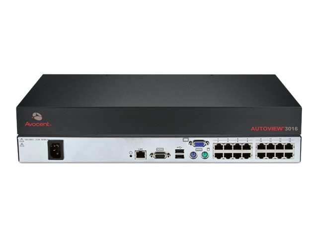 Avocent AutoView 3016 Digital KVM appliance, one digital port with local support, AV3016-001, 10733144, KVM Switches