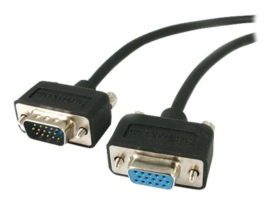 StarTech.com Coax Super Thin Low Profile SVGA Extension Cable 15ft, MXT101LP15, 6869428, Cables
