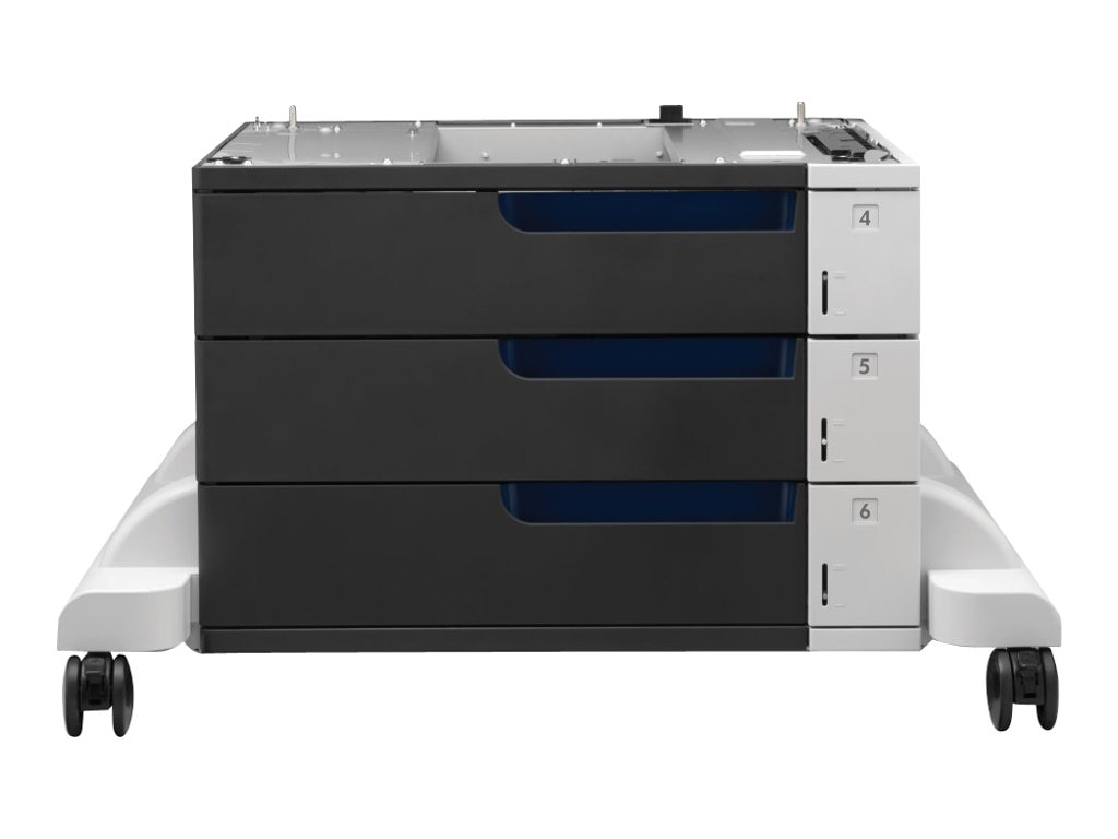 HP Color LaserJet 3x500-sheet Paper Feeder & Stand for HP Color LaserJet Enterprise CP5520 Series, CE725A, 12274463, Printers - Input Trays/Feeders