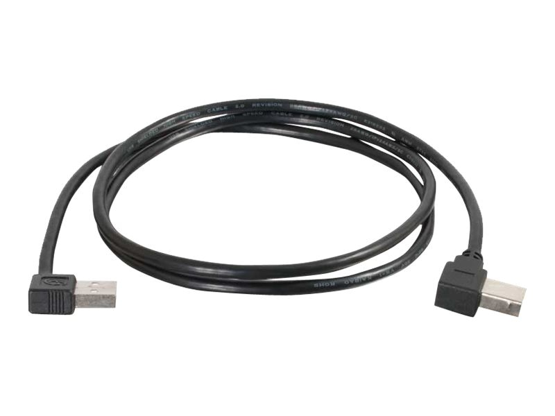 C2G USB 2.0 Right Angle A B Cable, 1m, Black