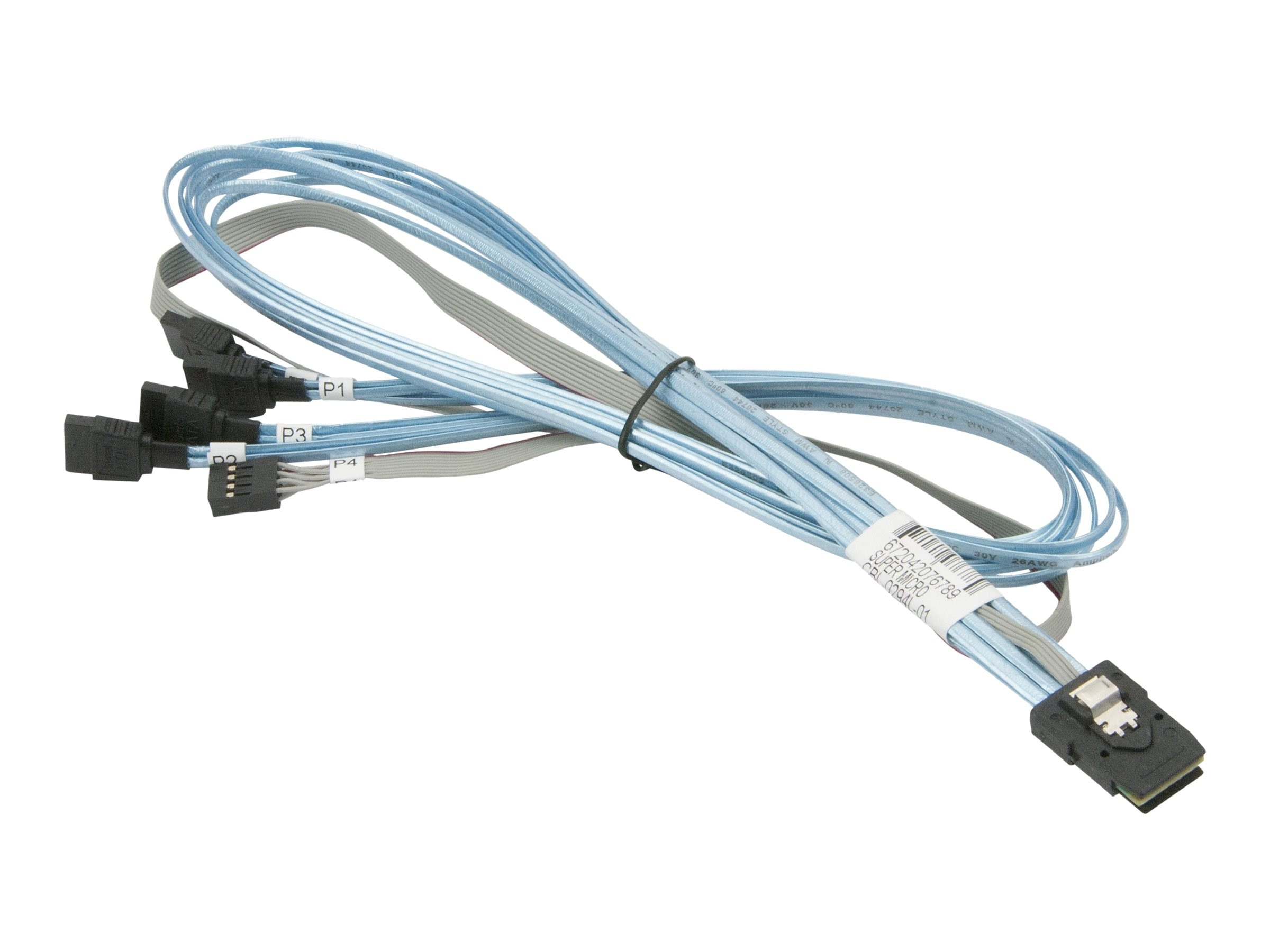 Supermicro Ipass to Sata Data Crossover Cable, 2.3ft, CBL-0294L-01