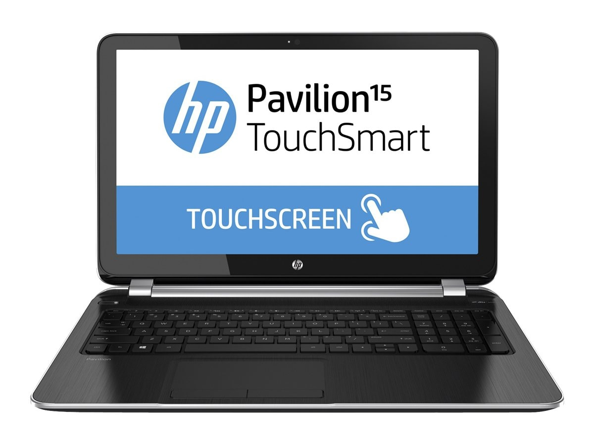 HP Pavilion 15-n260us TouchSmart AMD QC A8-5545M 1.7GHz 6GB 750GB DVD SM bgn 15.6 HD Touch 4C W8.1, F5Y61UA#ABA