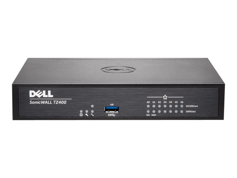 Dell SonicWALL TZ400 Network Security Firewall, 01-SSC-0213, 19697151, Network Firewall/VPN - Hardware
