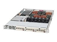 Supermicro Barebone A+ Server AS1040C-8 1U Rack, Quad Opteron, 3xU320 HD, GigNIC, 1000W, Beige, AS-1040C-8, 6808887, Barebones Systems