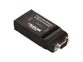 Black Box POE to RS-232 Converter, LPD401A, 25112332, Adapters & Port Converters