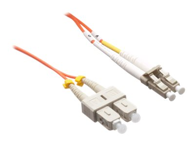 Axiom LC-SC 62.5 125 OM1 Multimode Duplex Fiber Cable, Orange, 60m