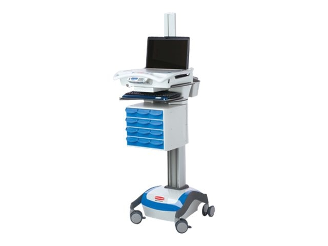 Rubbermaid RX Laptop Cart, Base SKU (Requires Drawer Kit), 9M38-RX-L00, 12880519, Computer Carts - Medical