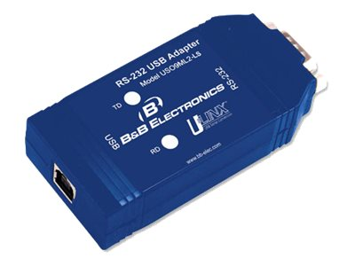 B&B Electronics USB To Isolated RS-232 DB9 Converter