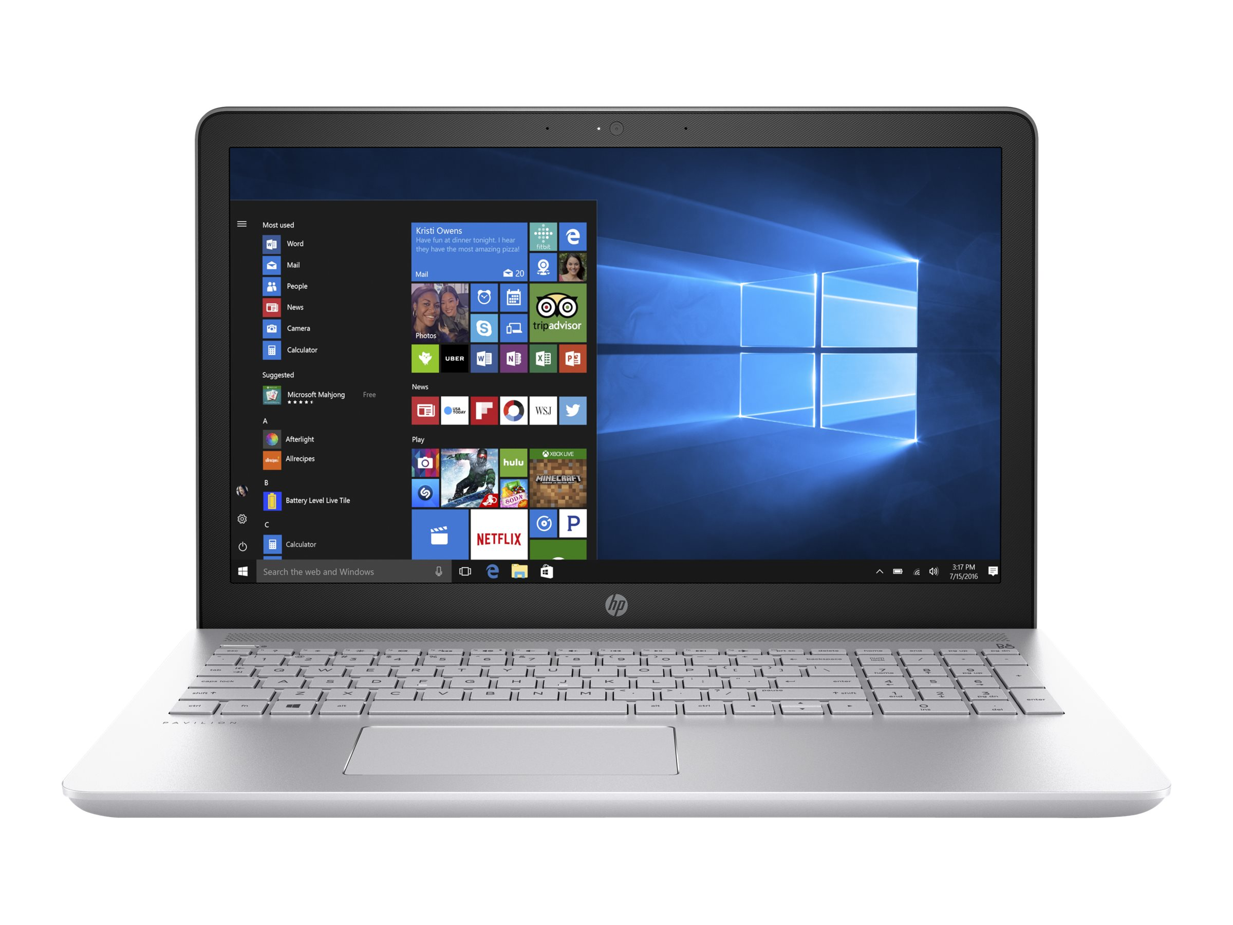 HP Notebook PC Core i5-7200 8GB 1TB 15 MT W10, 1KU07UA#ABA