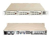 Supermicro Barebone A+ Server AS1020A-8 1U Rack, Dual AMD, 3xSCSI HS, DDR, 2GbE, FDD CD, 420W, Black, AS1020A-8B, 6502941, Barebones Systems