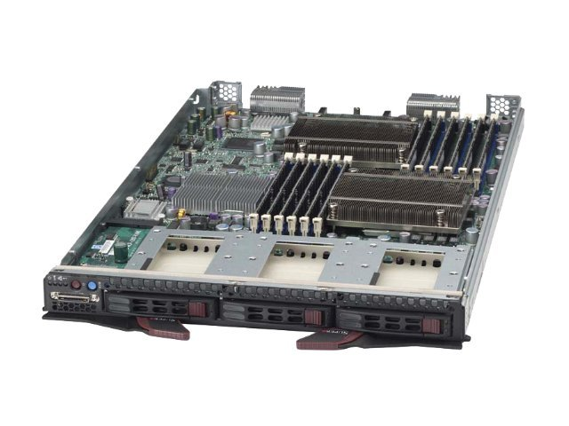 Supermicro Processor Blade, Xeon 5500 Series Support, Max 96GB DDR3, 3x2.5 SATA HS Bays