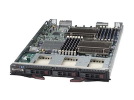 Supermicro Processor Blade, Xeon 5500 Series Support, Max 96GB DDR3, 3x2.5 SATA HS Bays, SBI-7426T-S3, 10707211, Servers - Blade
