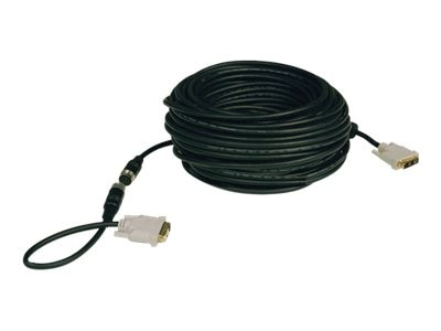 Tripp Lite DVI-D M M Single Link Easy Pull Digital TMDS Monitor Cable, Black, 100ft