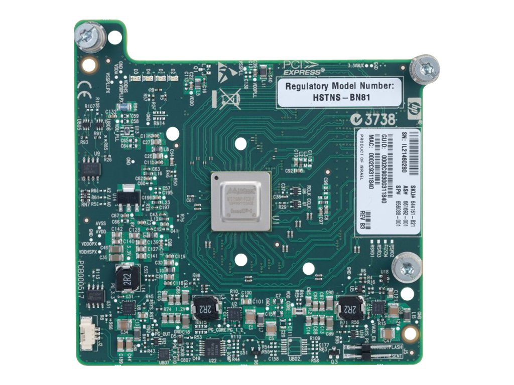 HPE InfiniBand 10 40Gb Dual Port 544M - network adapter - 2 ports, 644161-B22, 15409511, Network Adapters & NICs