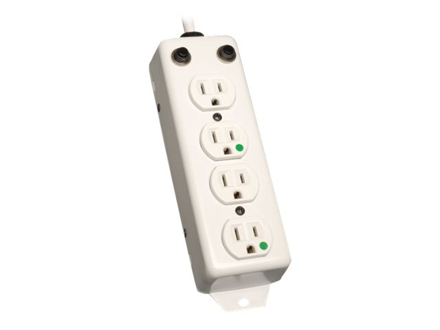 Tripp Lite Medical-Grade Power Strip 4-outlet 2ft Cord for Patient Care Areas