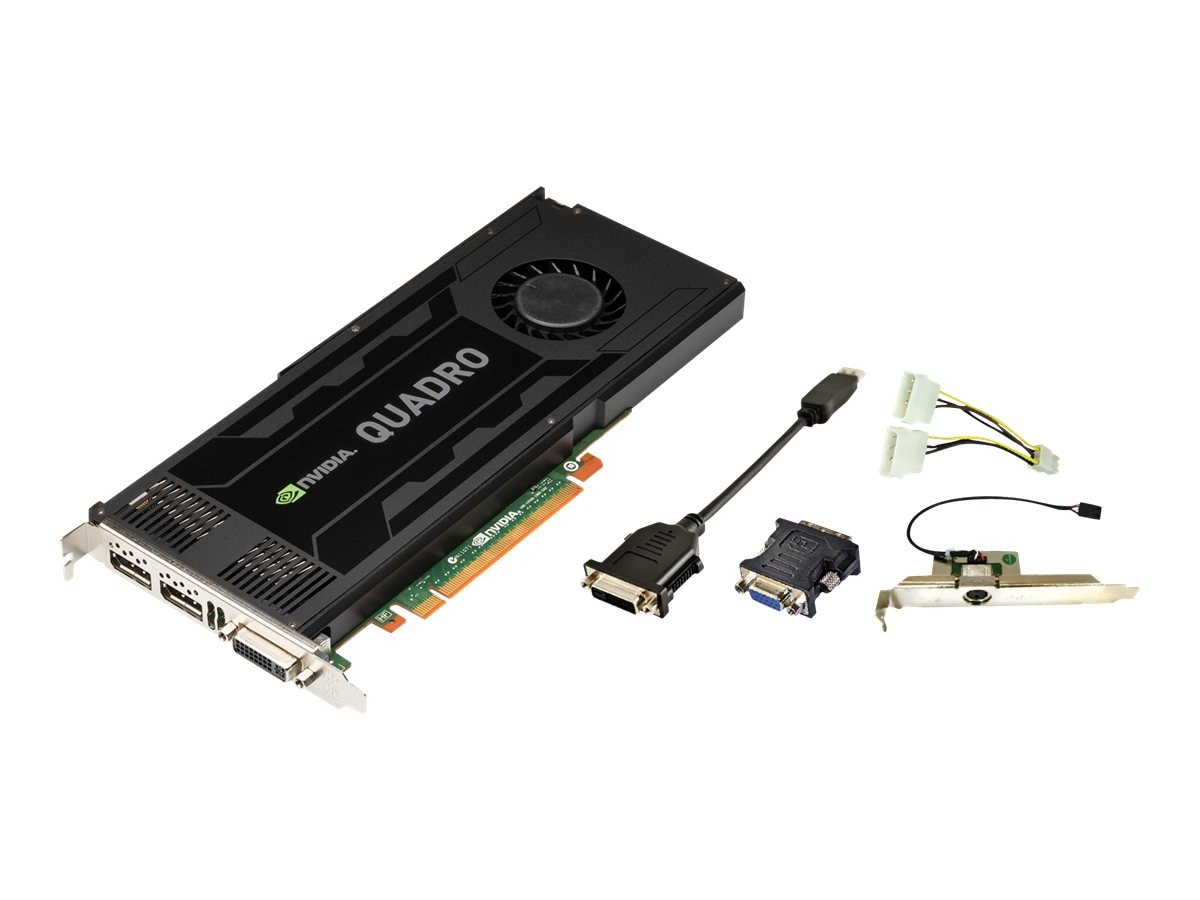 PNY NVIDIA Quadro K4000 PCIe 2.0 x16 Graphics Card, 3GB GDDR5, VCQK4000-PB, 15441909, Graphics/Video Accelerators