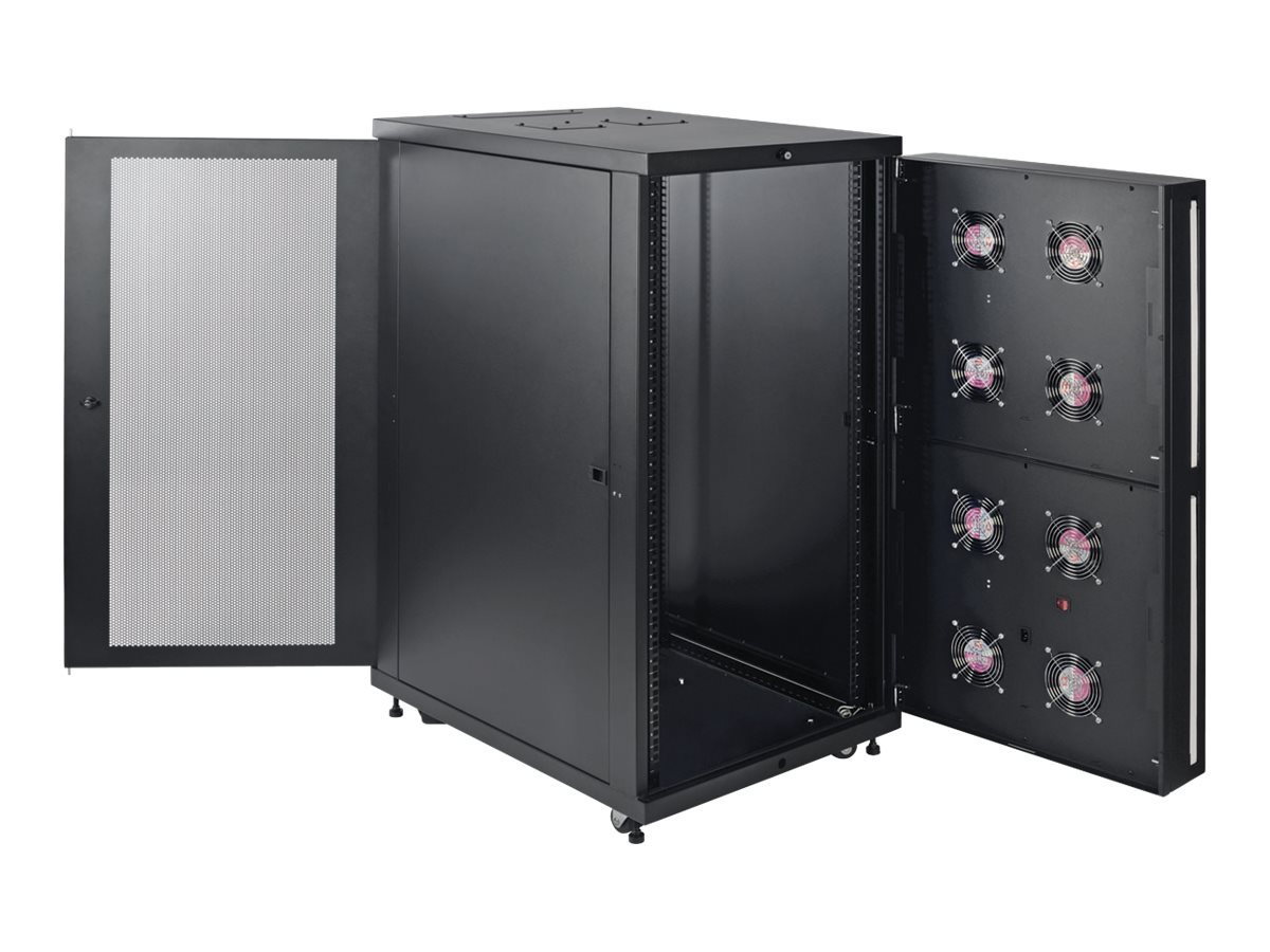 Tripp Lite SmartRack 24U Standard-Depth Rack Enclosure Cabinet for Harsh Environments, SR24UBFFD, 30877671, Racks & Cabinets