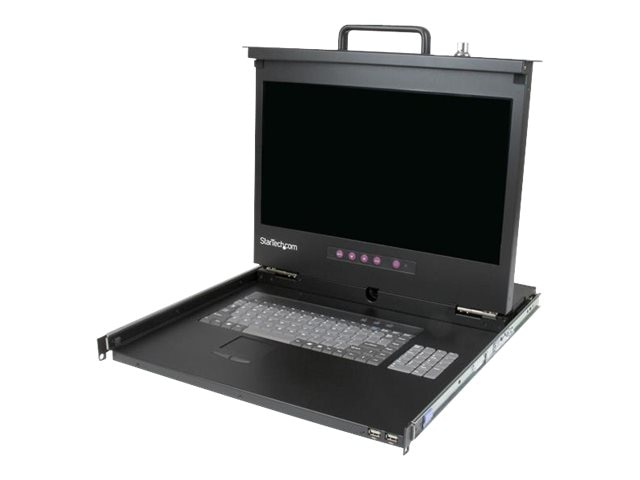 StarTech.com 17 HD 1080p 1U Rackmount LCD Console with Front USB Hub, RACKCONS17HD