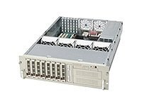 Supermicro 3U Rackmount Drive Case, 8 SCSI HS, (2) 5.25in. Bays, SAF-TE, 760W Triple Redundant PS, 1FD, No CD