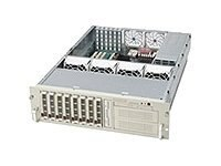 Supermicro 3U Rackmount Drive Case, 8 SCSI HS, (2) 5.25in. Bays, SAF-TE, 760W Triple Redundant PS, 1FD, No CD, CSE-832S-760, 4823696, Hard Drive Enclosures - Multiple