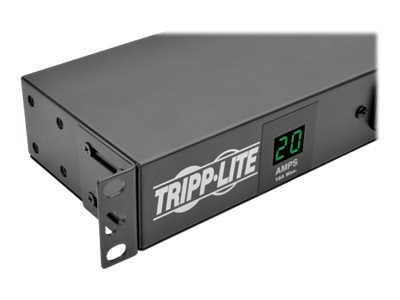 Tripp Lite Metered PDU + Isobar Surge 1.92kW 120V 1-Ph 3840 Joules 1U L5-20P 5-20P (12) 5-20R (2) 5-15R Outlets, PDUMH20-ISO