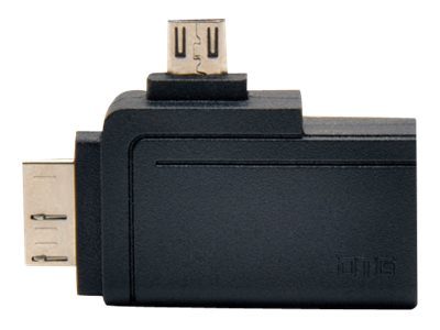 Tripp Lite 2-in-1 OTG USB 3.0 Micro B and USB 2.0 Micro B  to USB Type A M M F Adapter, Black, U053-000-OTG