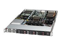 Supermicro SuperServer Barebones 1U RM Xeon E5-2600 Family Max.256GB DDR3 6x2.5 HS Bays 2xPCIe GNIC 1400W, SYS-1017GR-TF-FM175, 14764992, Servers