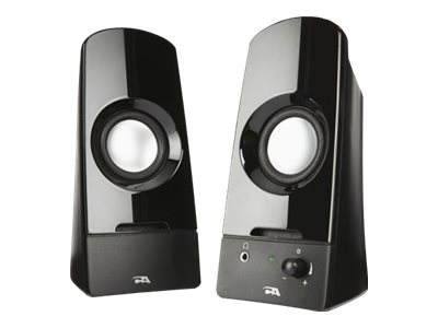 Cyber Acoustics Curve Series 2.0 Powered Speaker System w  Titanium Drivers, CA-2050, 29152981, Speakers - Audio
