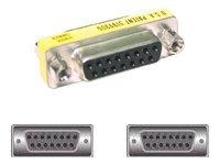 C2G DB15 Female-To-Female Mini Gender Changer, 02772, 5844780, Adapters & Port Converters