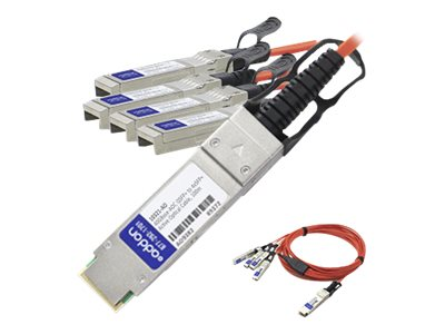 ACP-EP 40GBase-AOC QSFP+ to 4xSFP+ Direct Attach Cable for Cisco, 2m, QSFP-4X10G-AOC2M-AO, 18191562, Cables