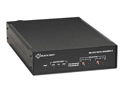 Black Box RS-232 Data Sharer, 2-Port (in Metal Case), TL601A-R2, 19744894, Network Transceivers