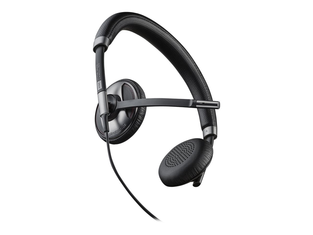 Plantronics BlackWire 725 UC PC Computer Binaural Headset w  Noise Cancelling, 202580-01