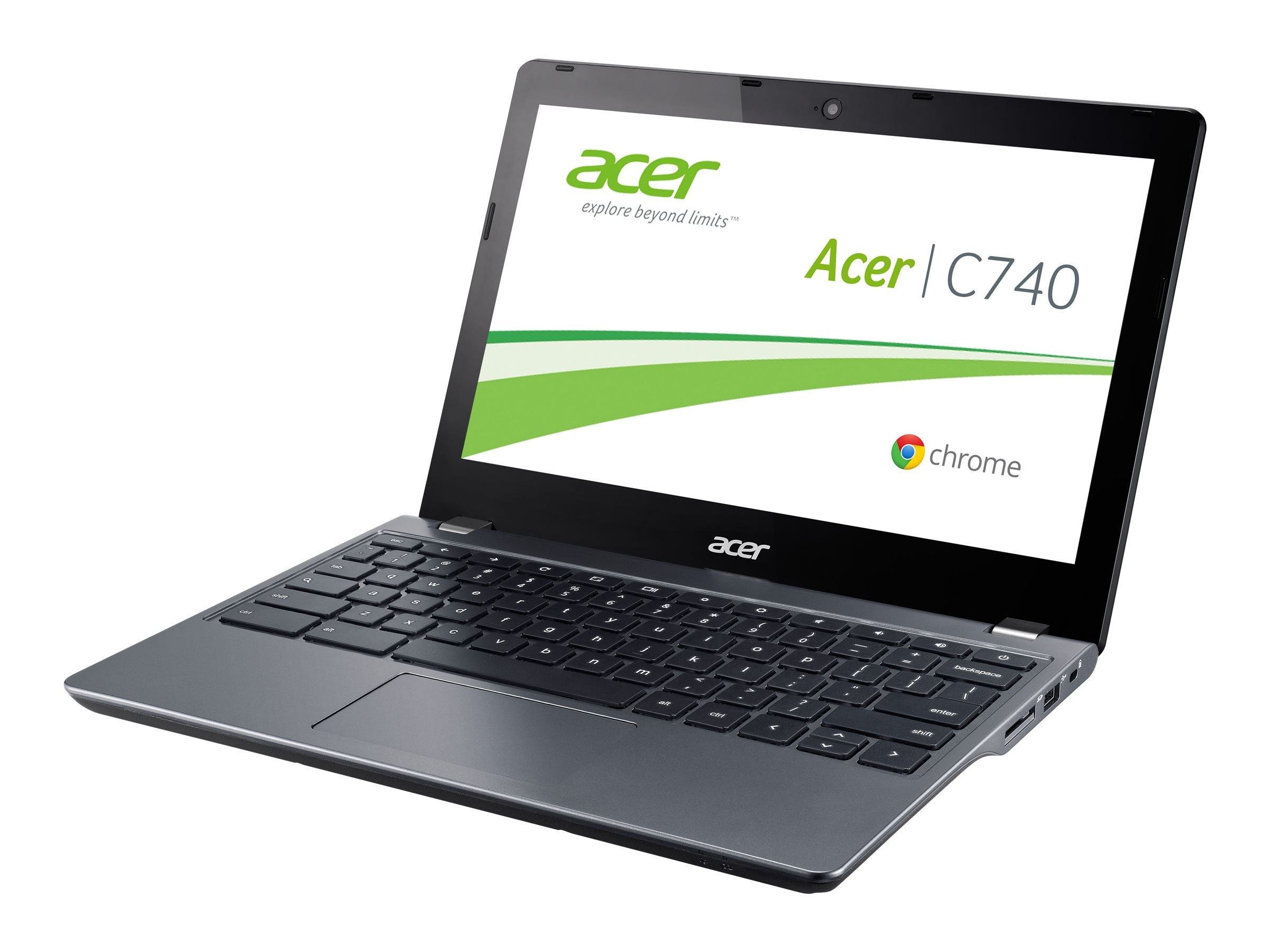 Acer Chromebook C740-C3P1 Celeron 3205U 1.5GHz 2GB 16GB SSD ac BT WC 11.6 HD ChromeOS, NX.EF2AA.001, 18403844, Notebooks