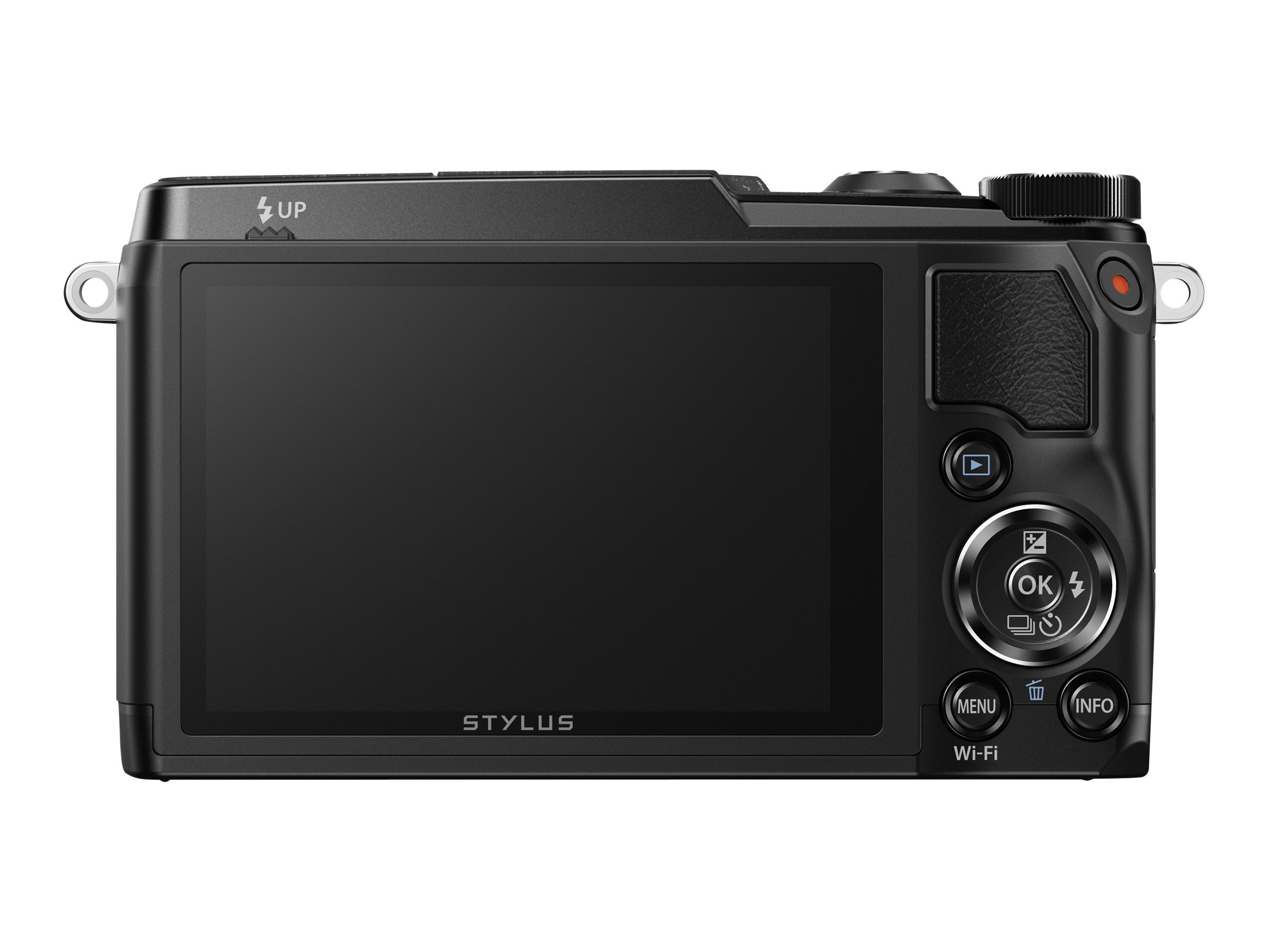 Olympus Stylus SH-1 Digital Camera, 16MP, Black, V107080BU000