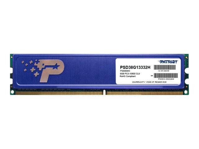 Patriot Memory 8GB PC3-10600 240-pin DDR3 SDRAM DIMM, PSD38G13332H