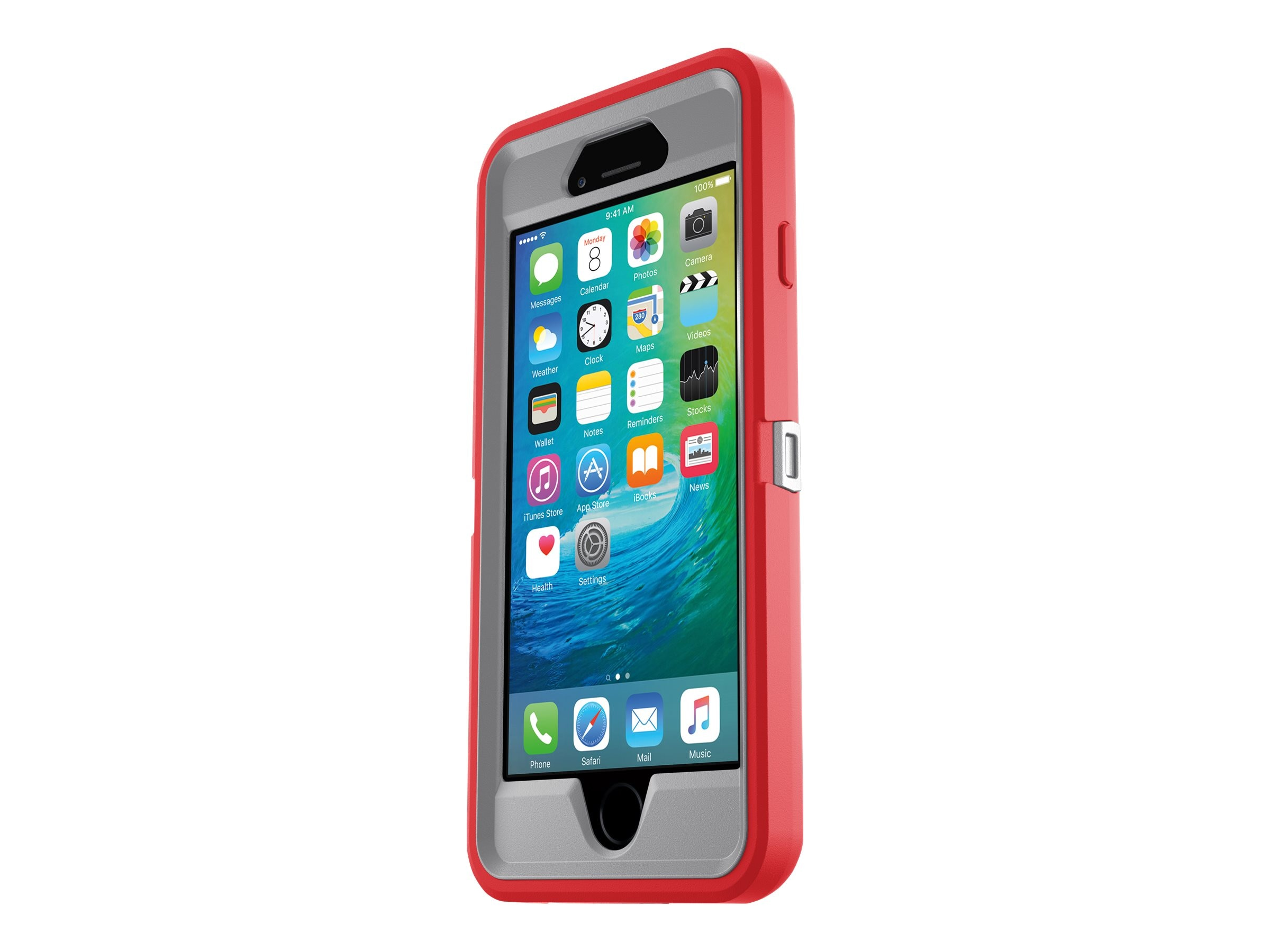 OtterBox Defender for iPhone 6 6S, Fire, 77-52138, 30683121, Carrying Cases - Phones/PDAs
