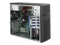 Supermicro Chassis, Mid-Tower, EATX, Dual Processor, 4x3.5 SAS SATA, 7xSlots, 500W PS, Black