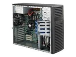 Supermicro Chassis, Mid-Tower, EATX, Dual Processor, 4x3.5 SAS SATA, 7xSlots, 500W PS, Black, CSE-732D4-500B, 12866207, Cases - Systems/Servers