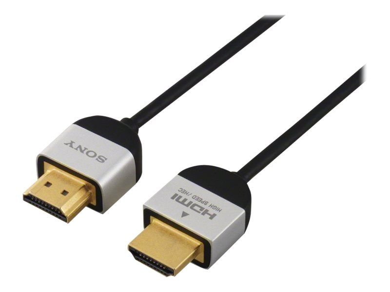 Sony Slim HDMI Cable with Ethernet, 1m