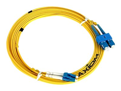 Axiom Fiber Patch Cable, LC-ST, 9 125, Singlemode, Duplex, 10m, LCSTSD9Y-10M-AX, 13221443, Cables