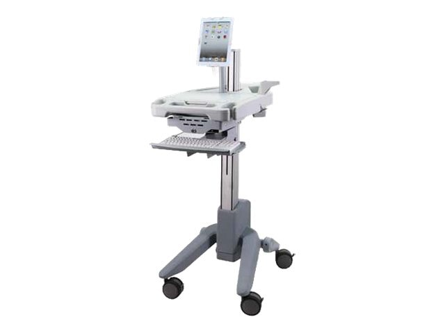 Peerless PeerCare Powered Hybrid EMR Cart, Gray White, HCC101, 14899387, Stands & Mounts - AV