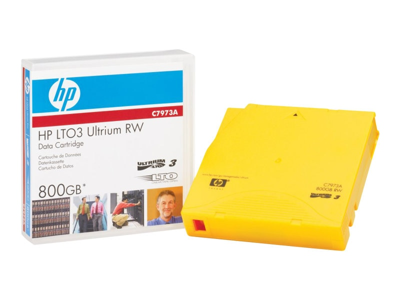 HPE 400 800GB LTO-3 Ultrium Data Cartridge, C7973A, 5676093, Tape Drive Cartridges & Accessories