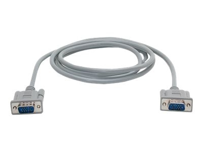 StarTech.com HDDB15 VGA M M Cable, Gray, 15ft, MXT101MM15