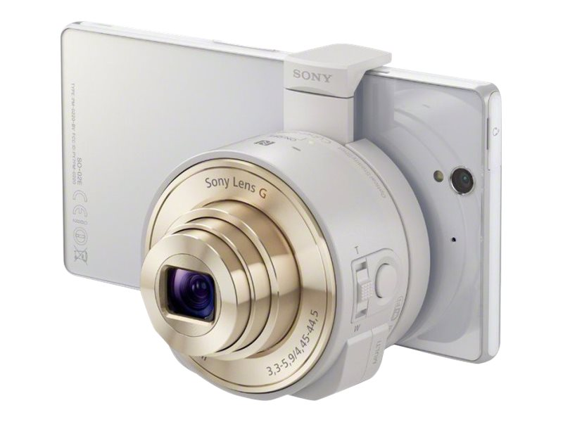 Sony Smartphone Attachable Lens-Style Camera 18MP 10x Optical Zoom, White, HD Video