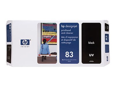 HP 83 Black UV Printhead & Printhead Cleaner, C4960A, 328162, Ink Cartridges & Ink Refill Kits